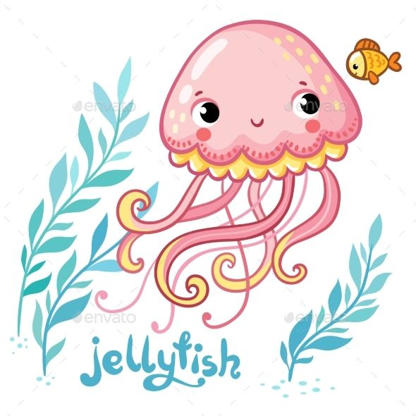Cartoon Jellyfish Jellyfish Illustration Jellyfish Drawing Jellyfish Painting
