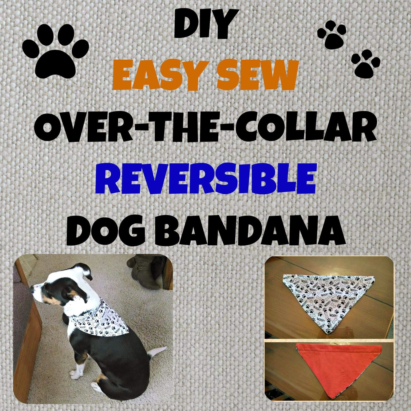 dog bandana template - pet bandanas diy