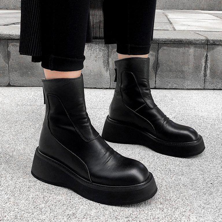 Photo of Chiko Edilberta Round Toe Flatforms Boots