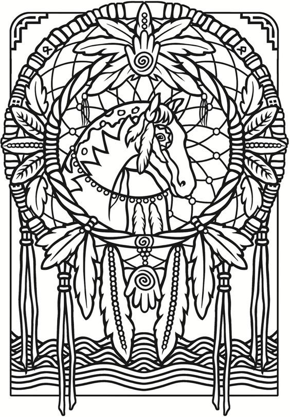 Stained glass coloring page from the book creative haven dreamcatchers stained glass coloring book