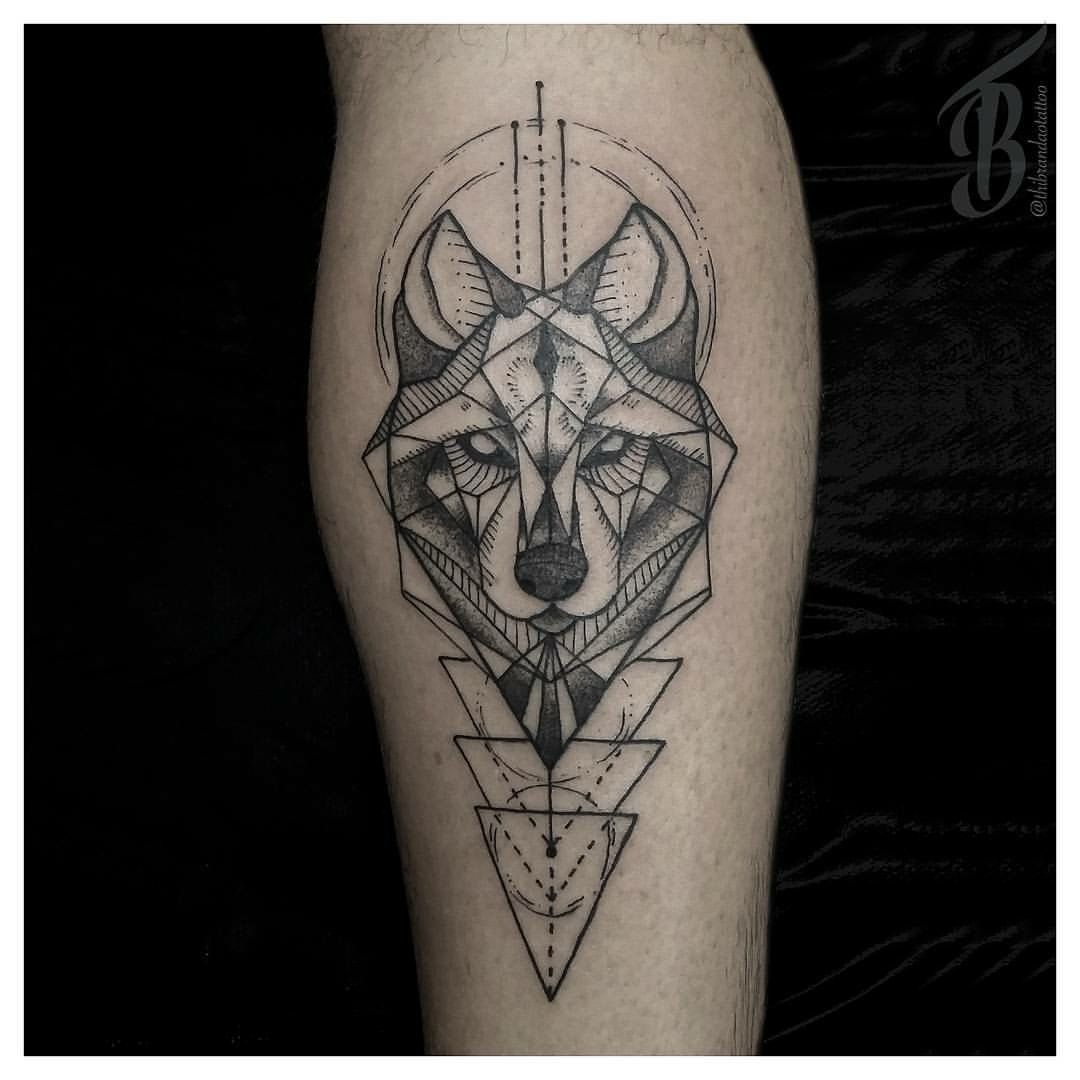 Geometric Wolf Sleeve: Pin By C ALeb S ILva On Tattoo Ideas
