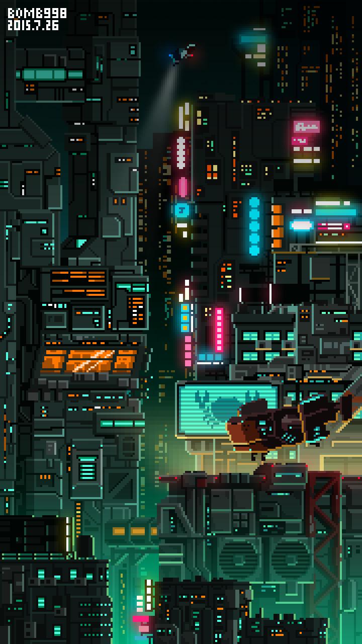 查看《starlightcity》原图,原图尺寸:720x1280 Pixel Art Background