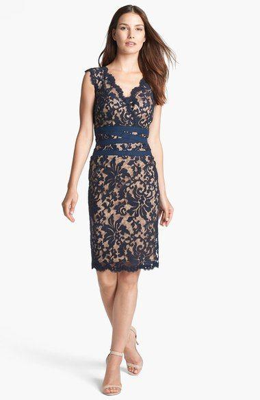 Tadashi Shoji Embroidered Lace Sheath Dress (Regular & Petite) available at…