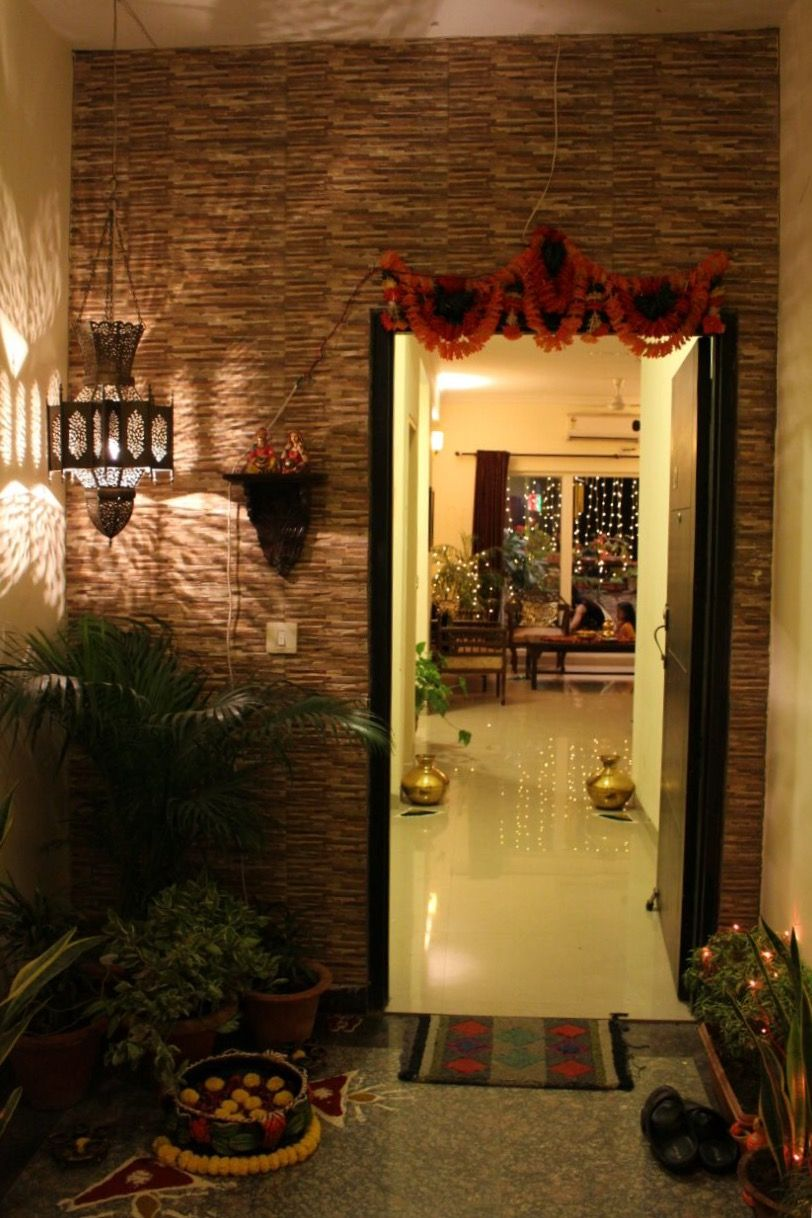 Entrance Decor Indian Home Decor Home And Spaces Pinterest