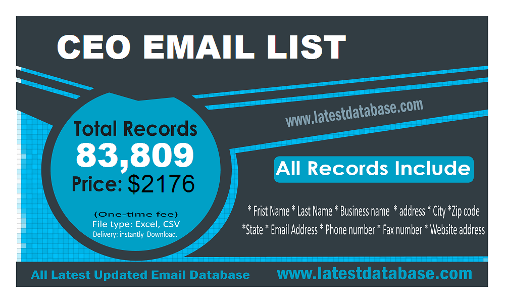 CEO Email Lists   ceo email lists   Email marketing lists, Email