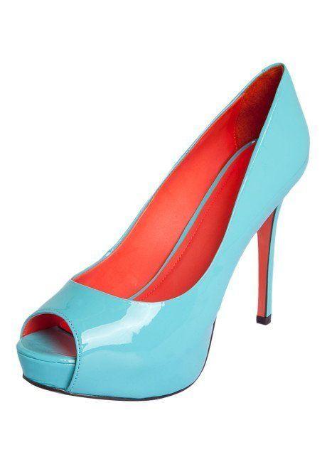 peep toe azul calcinha