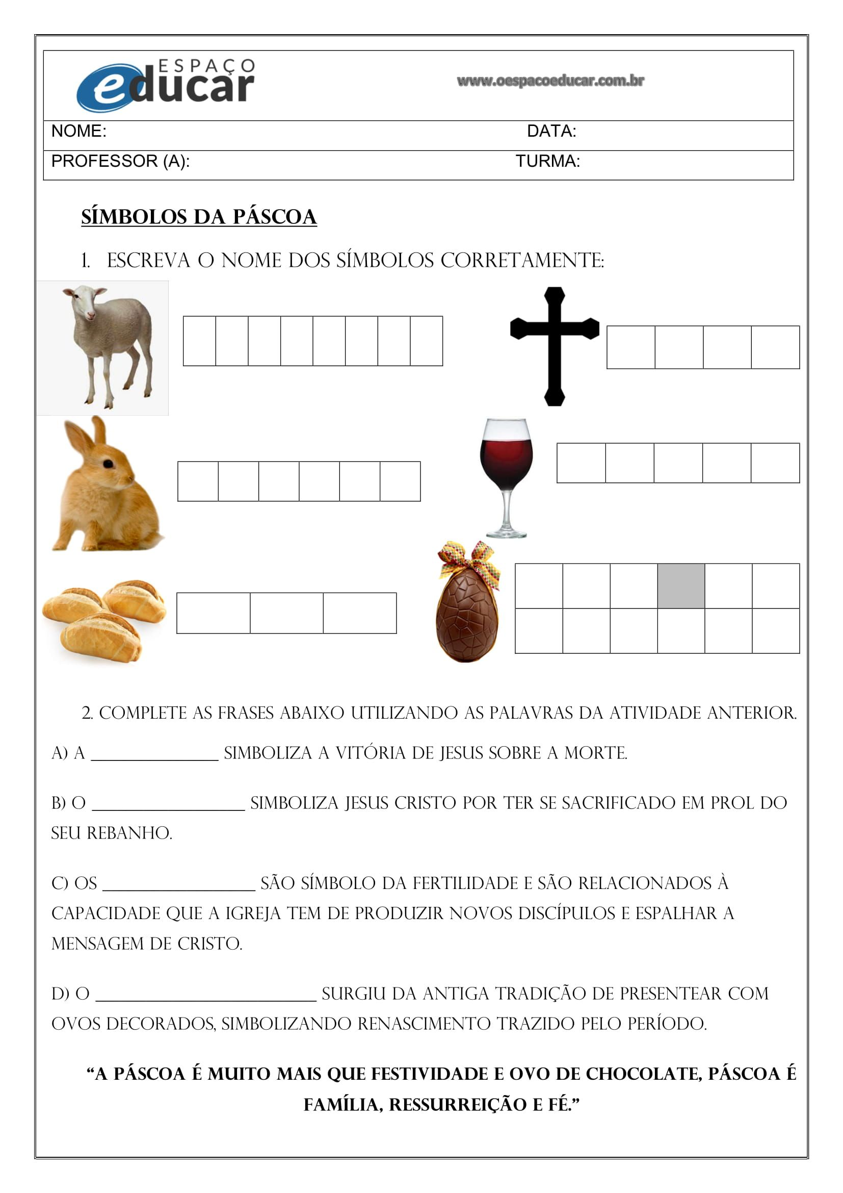 Sequencia Didatica De Alfabetizacao Eja Para Pascoa Alfabetizacao Simbolos Da Pascoa Atividades De Ortografia