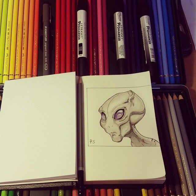 #promarker #alien #polychromos #fabercastelpolychromos #staedlerpencils #drawing