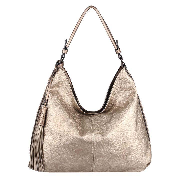 OBC XXL LADIES METALLIC HANDBAG Shopper Leather Look Hobo Bag Shoulder Bag Shoulder Bag Handl OBC XXL LADIES METALLIC HANDBAG Shopper Leather Look Hobo Bag Shoulder Bag S...