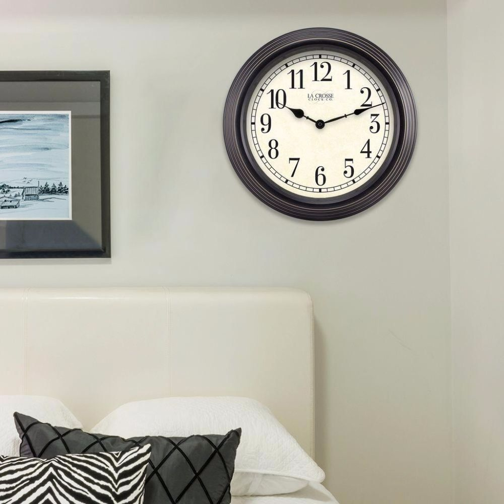 Round Brown Antique Analog Wall Clock Shatter Resistant Lens Home ...