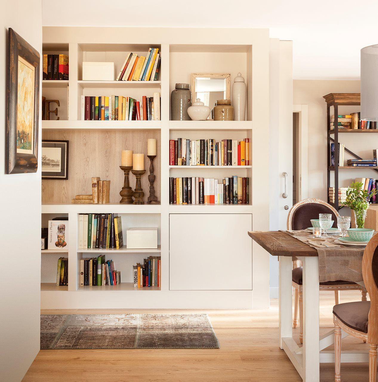 Librer A A Modo Biblioteca En Sal N Comedor Biblioteca Home  ~ Libreria Con Puertas De Cristal