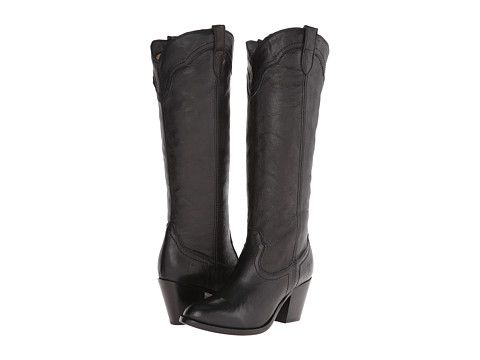 Frye Tabitha Pull On Tall Black Washed Antique Pull Up 6pm