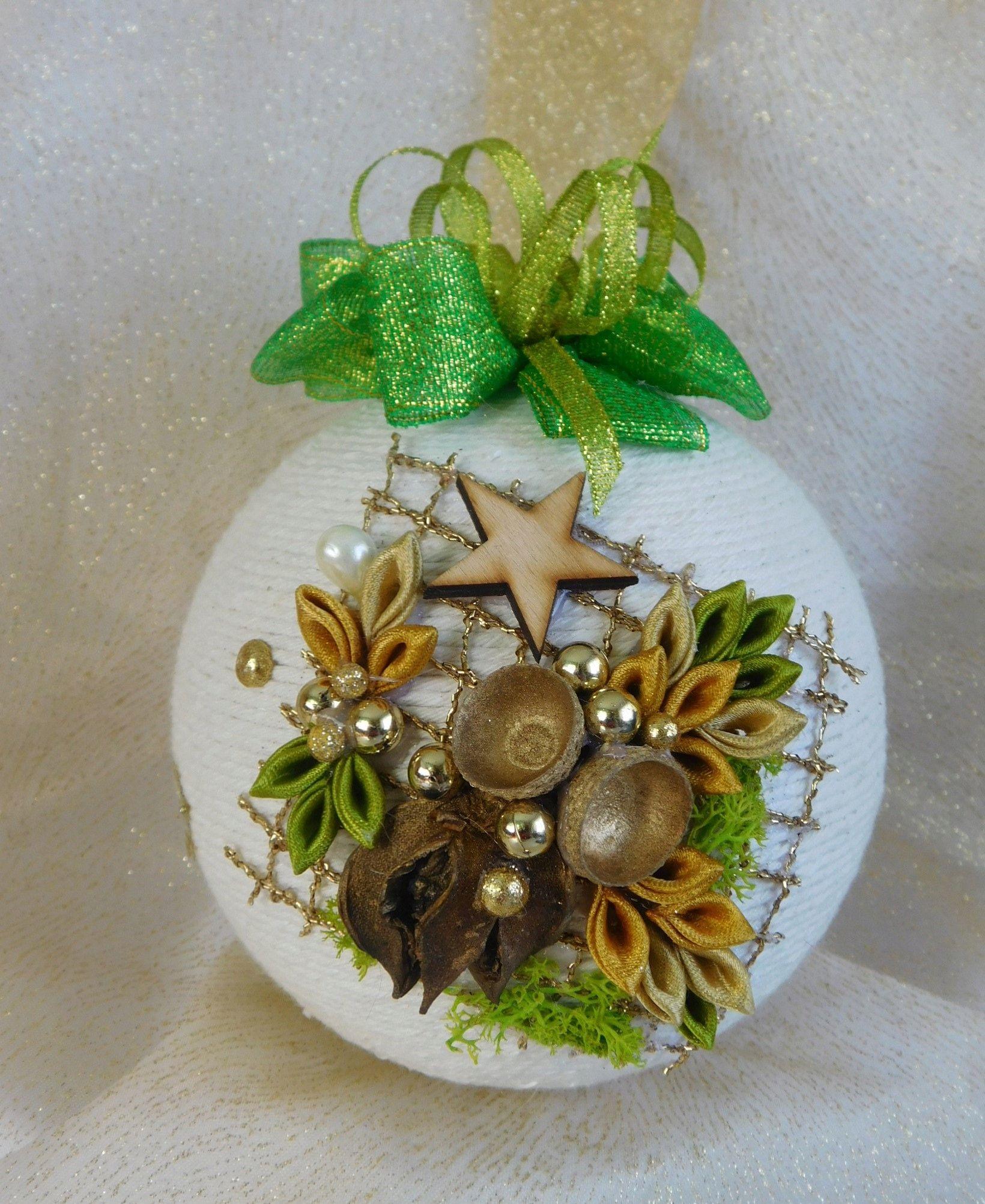 Piekna Bombka Sznurkowa Boze Narodzenie Rekodzielo 7594330796 Oficjalne Archiwum Allegro Fabric Ornaments Christmas Ornaments Christmas Bulbs