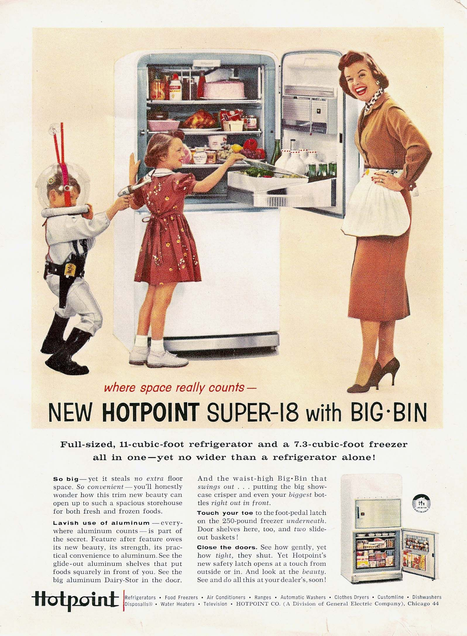 Hotpoint Ad, 1950s | Vintage Appliance Ads | Vintage ads
