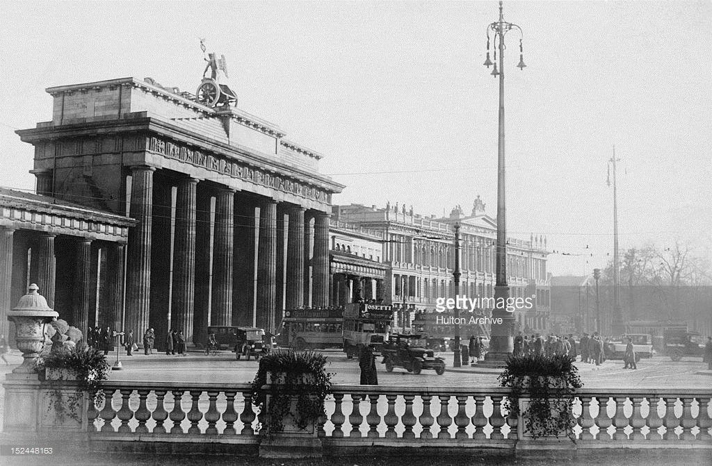 Brandenburger Tor Berlin Ca 1936 Berlin Deutschland Berlin Geschichte