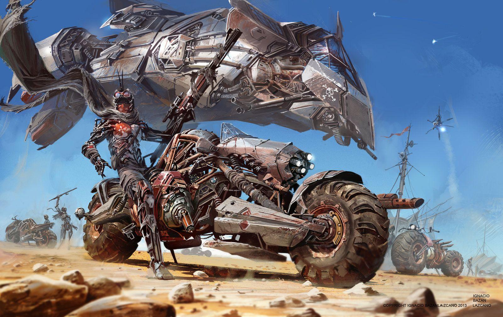 Desert bike revel camp  Ignacio Bazan Lazcano http://neisbeis.artstation.com/ http://neisbeis.deviantart.com/  #Ignaciobazanlazcano #thebrushtool #digitalart #cg