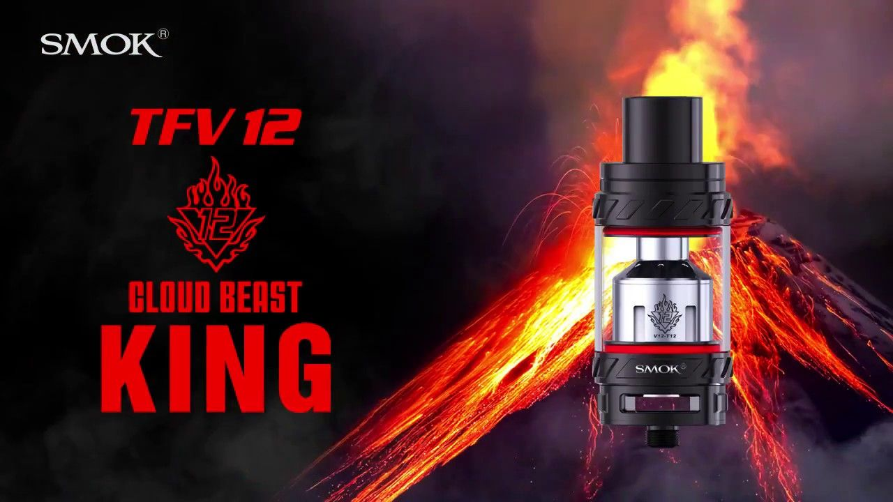 SMOK TFV12 Sub Ohm Tank, the cloud beast KING - Available from Mighty Vape