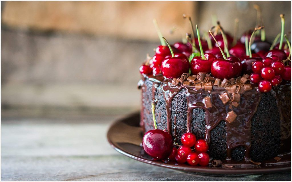 Chocolate Cherry Cake Wallpaper chocolate cherry cake ...