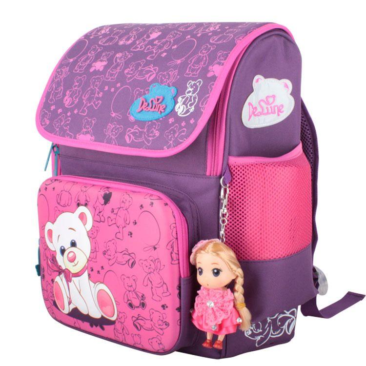 910759ffa934 Delune Cute School Bag Children School Backpacks Character Zipper Backpack  For Kids