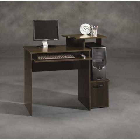 40 Inch Wide Dark Wood Computer Desk Home Office Furniture Desk