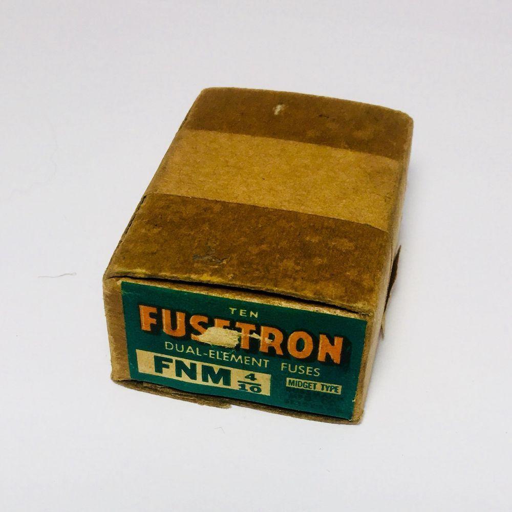 medium resolution of fnm 4 10 fusetron bussmann fuses box of 10 dual element 250 volt 3 2 amp midget ebay