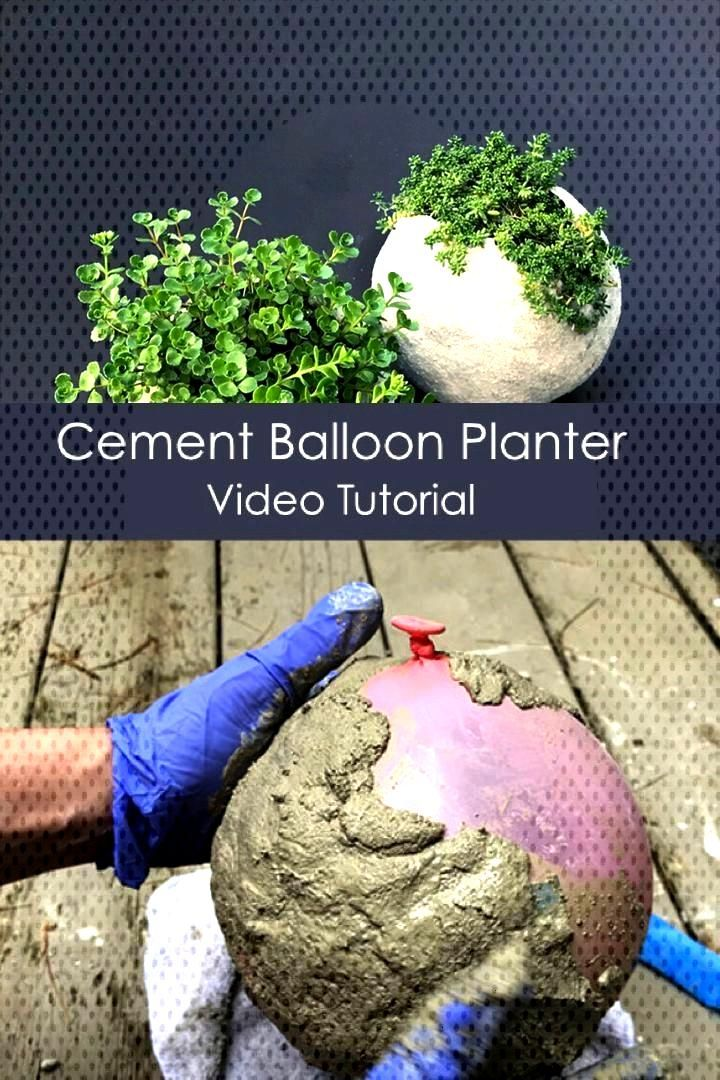 Easy Cement Balloon Planter - Dress Models, Easy Cement Balloon Planter - Dress Models,
