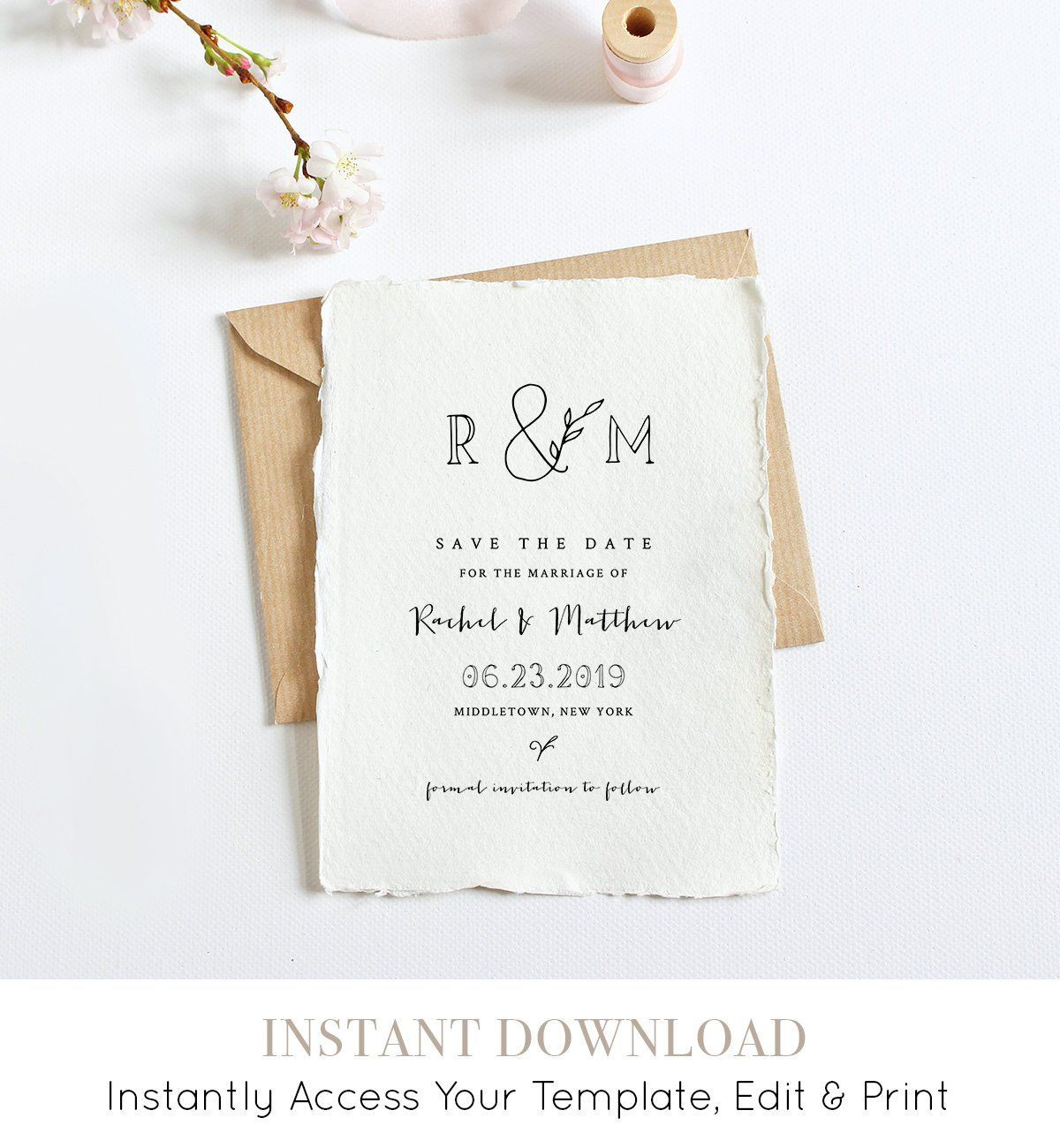 Pin by Minty Paperie on Save the Dates by MP  Pinterest  Wedding
