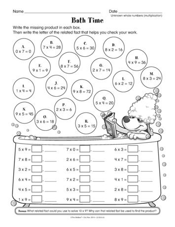 A Math Worksheet That Provides Practice With Basic Multiplication