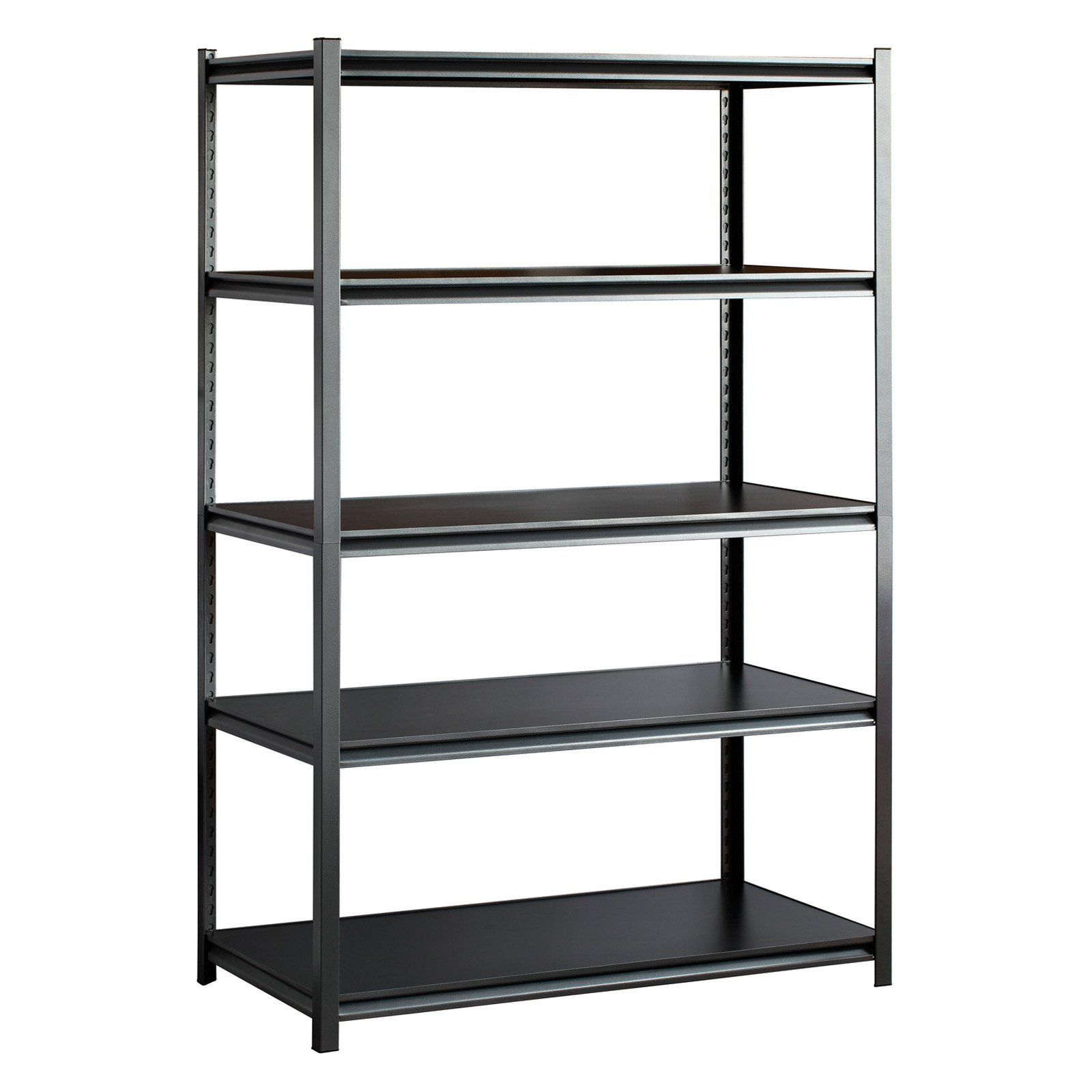 Edsal 5 shelf heavy duty steel shelving - The Silver Vein Adjustable Shelving Unit Features A Satin Finish That Blends Flawlessly With Existing Furniture 5 Shelf Heavy Duty Steel
