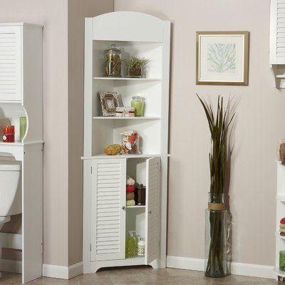 Riverridge Ellsworth Tall Corner Etagere White Corner Storage Cabinet Tall Corner Cabinet Corner Cabinet