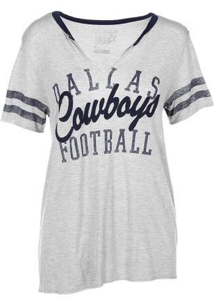 87beb370 Dallas Cowboys Womens Grey Bennett T-Shirt | NFL - Dallas Cowboys ...