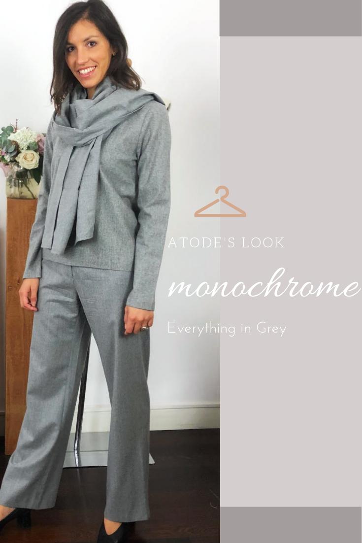 e61e4378eb19 TOP + PANTALON GRIS CHIC pour un look monochrome Garde robe capsule - Made  in France