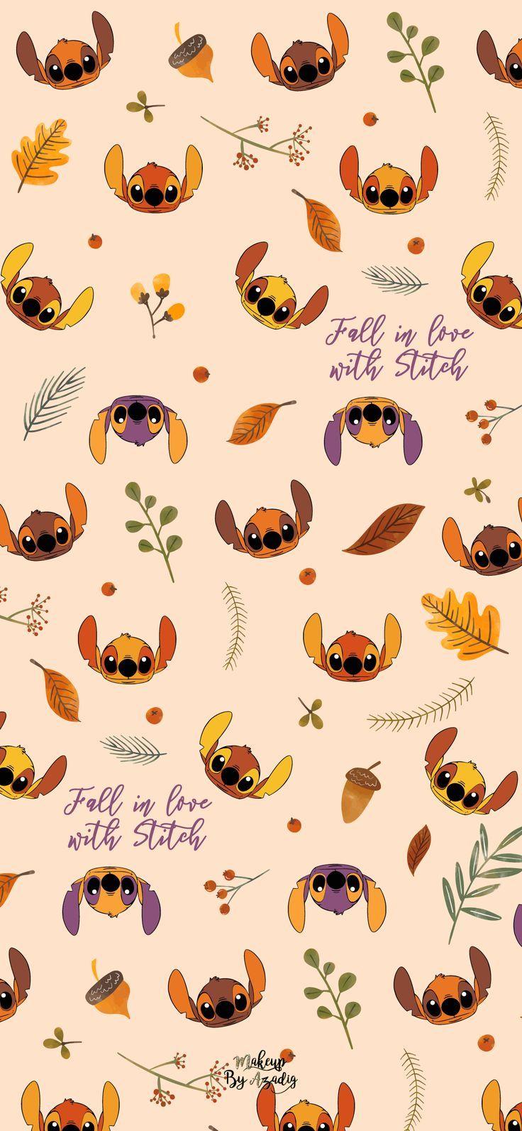 #8 : Fond d'écran Disney Stitch Fall - #Aestheticwallpaperiphone #Backgroundsiphone #Cu ...