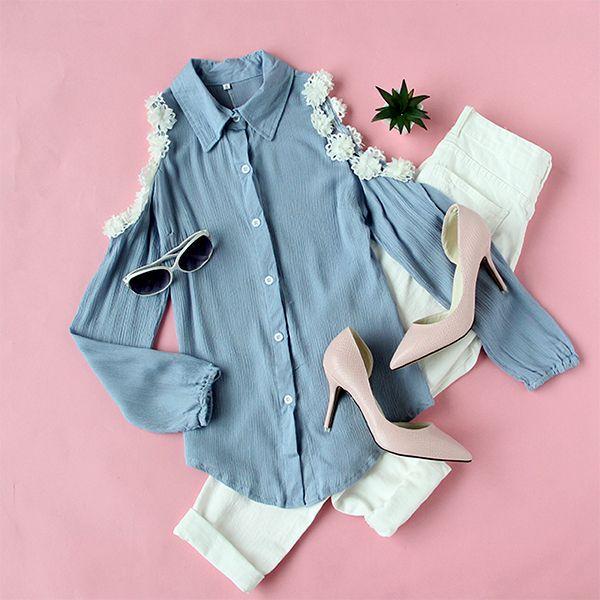 Mix & Match That little cute white-flower-applique~