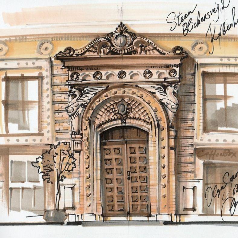 Arhitekturnye Detali V Gorodskih Sketchah Markerami Rendering