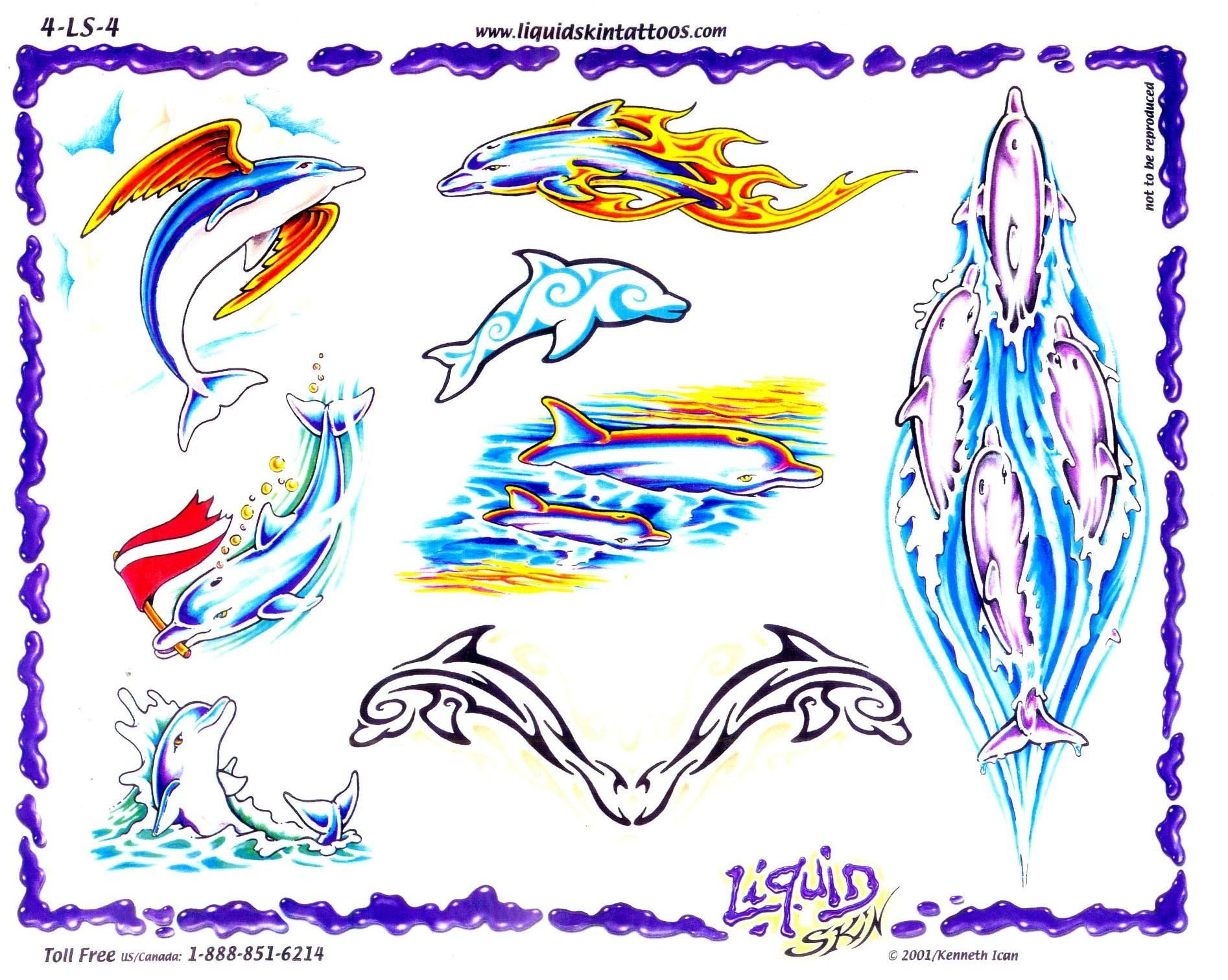 Pics photos dolphin tattoo design tattoos art and designs - The One On The Right To Be Added To My Left Leg With The Dragon Dolphins Tattoo
