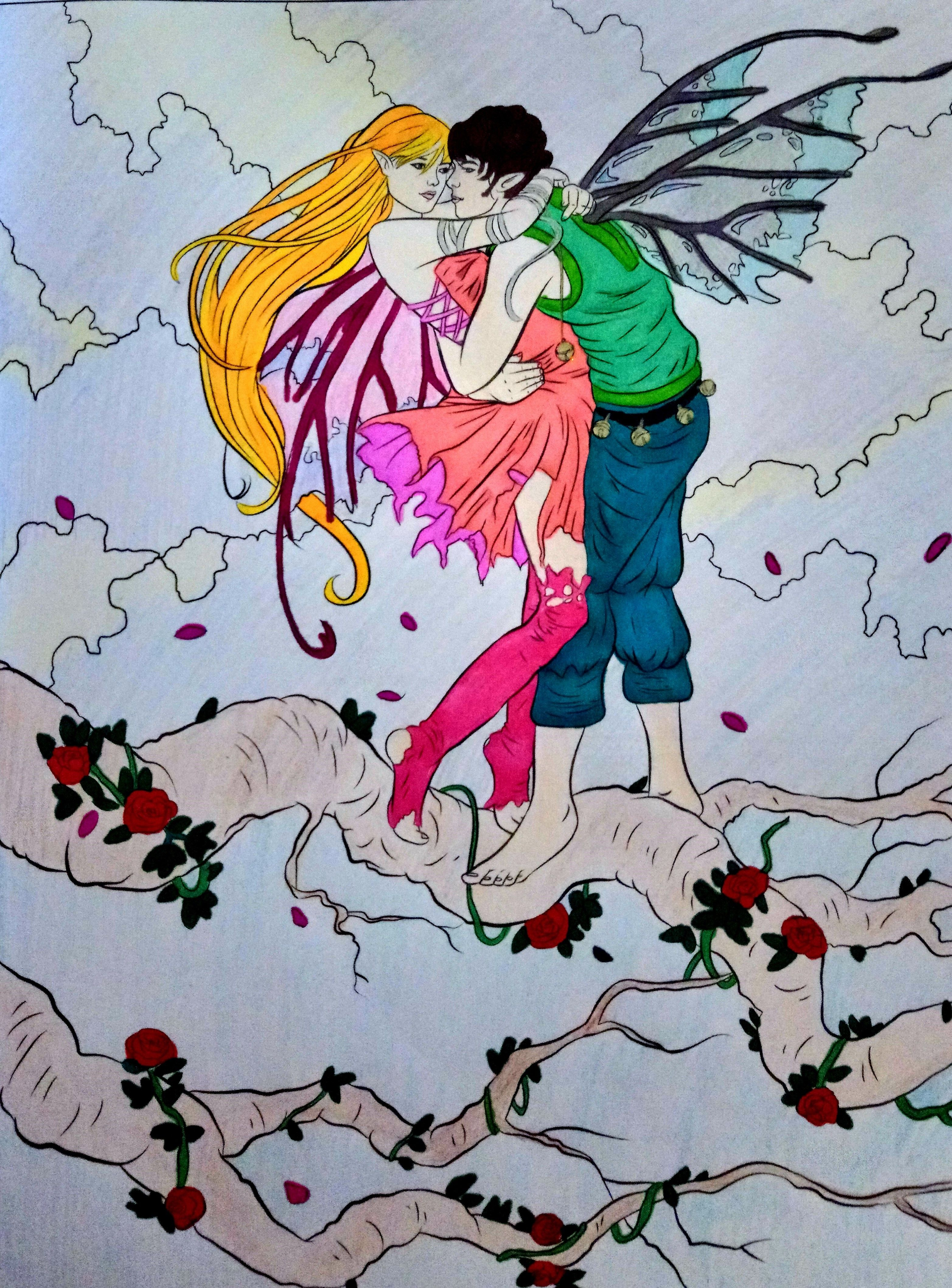 Fairy art coloring book by selina fenech - From Fairy Companions Coloring Book Fairy Romance Dragons And Fairy Pets By Selina Fenech