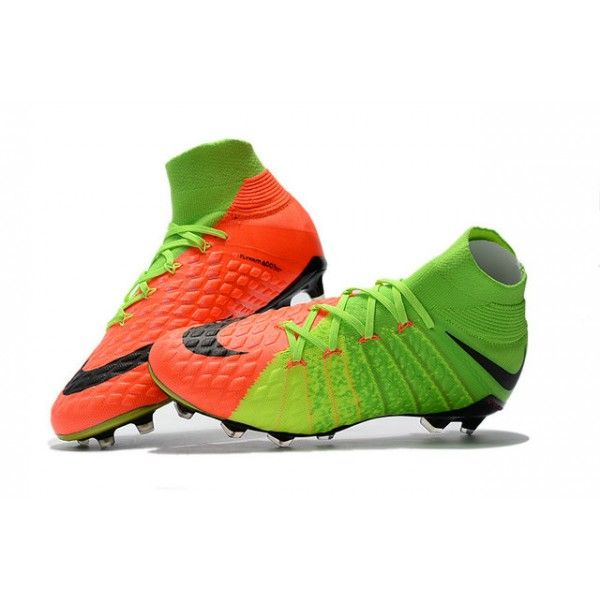 80e4bee7aaa New 2017 Nike Hypervenom Phantom 3 DF FG ACC Soccer Cleats - Electric Green  Orange Black