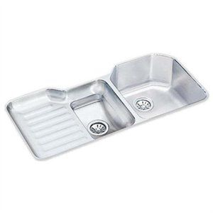 Lustertone 42 X 21 Undermount Double Bowl Kitchen Sink With Reveal