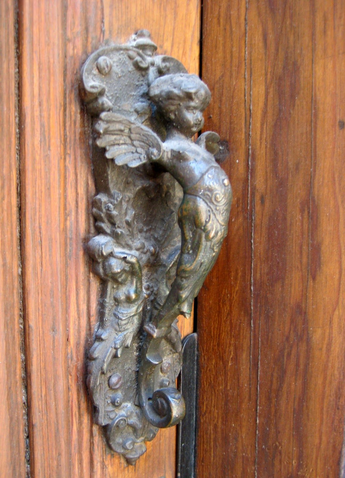 Extraordinary Door Knockers Decor Ideas. Interesting Door Knockers  Featuring Natural Iron Angel .