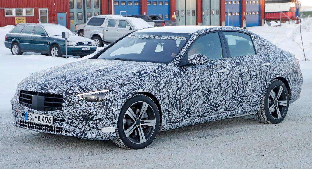 2021 Mercedes C Class Shows Mini S Class Looks As Camouflage Thins