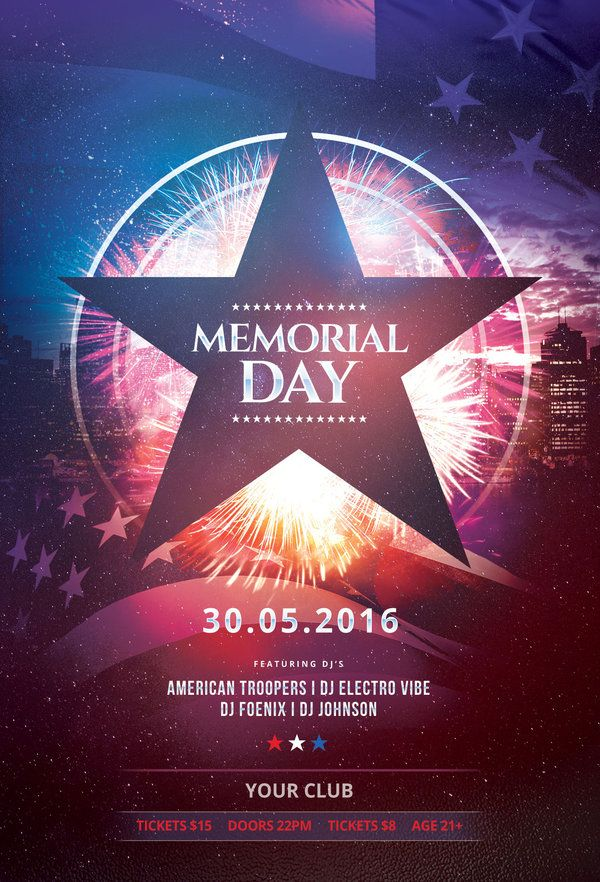 memorial day flyer template buy psd file 9 flyer n template