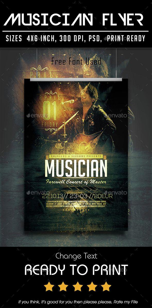 Musician Flyer Pinterest Musicians Template And Concert Flyer
