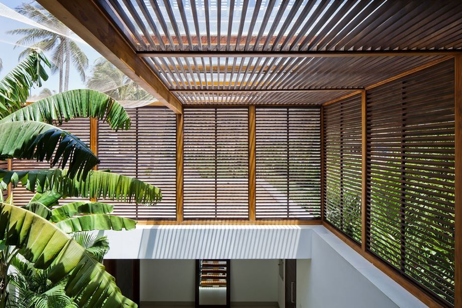 Private beach villas offer spectacular ocean views and luxurious interiors