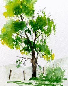 Jims Watercolor Gallery Oak Tree Tutorial