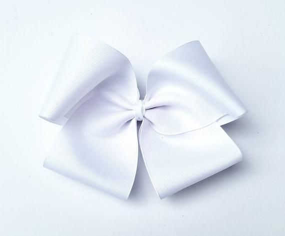 XL White Hair Bows - Hair Bows - Bows - Hair Bows for girls - 8 Hair Bows - XLarge Bows - White Bow