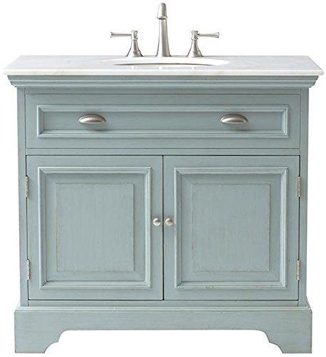 Sadie Single Vanity 35 Hx38 Wx21 5 D Antique Blue Home Decorators Collection Http Www Amazon Powder Room Vanity Bathroom Vanity Cabinets Marble Vanity Tops
