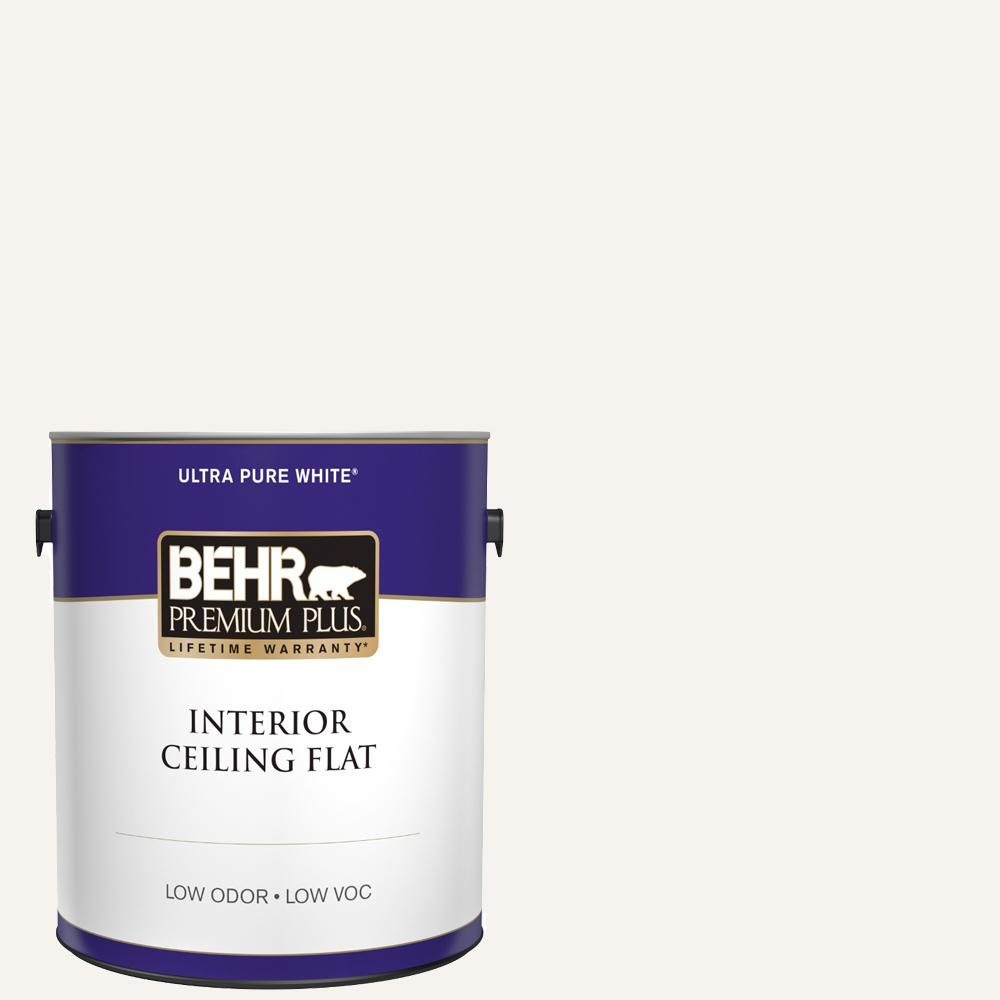 Behr Premium Plus 1 Gal Ultra Pure White Ceiling Flat Interior