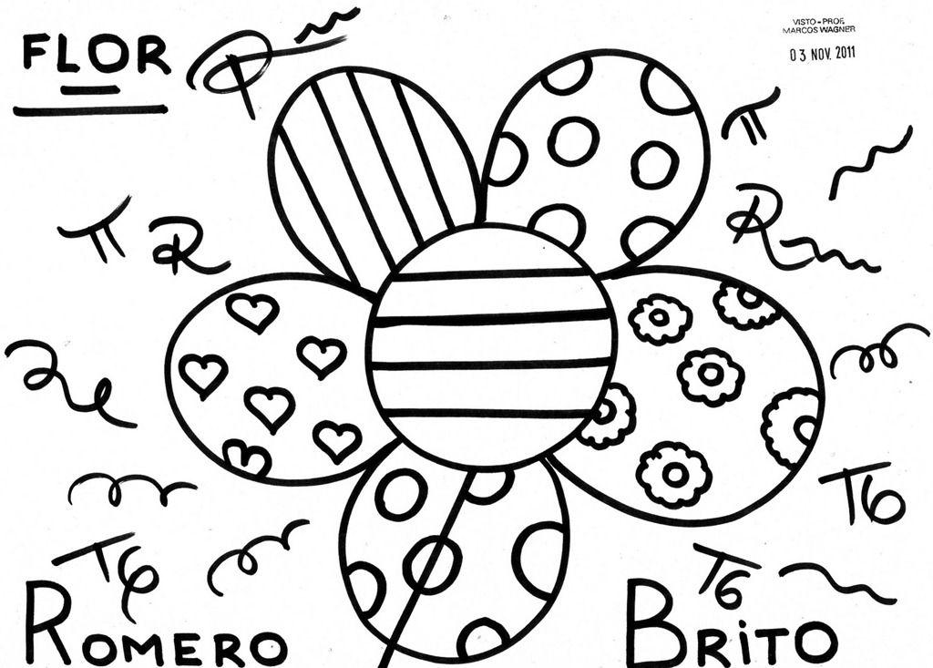 Coloriage Fleur Britto.Pin By Corine Dell Acqua On Britto Romero Britto Art Graffiti