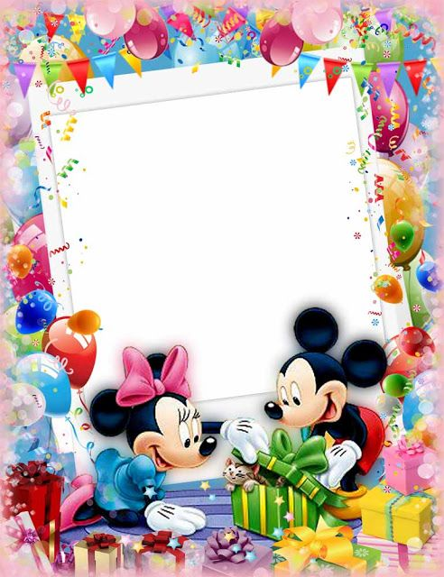 Birthday Frame Elxa Birthday Frames Happy Birthday Frame Disney Frames